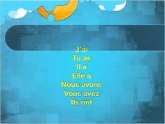 ▶ Etre et Avoir - Sing In French (Official Sing Along) - YouTu French Verbs, French Grammar, French Teaching Resources, Teaching French, French Language Learning, Language Lessons, French Songs, Core French, French Education