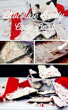 Chocolate Candy Cane Bark (yes, it's as fabulous as it sounds)   #food #recipes #dessert #gifting