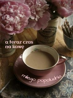 ✿Tea & Coffee time✿ Weekend coffee & pink peonies in marmalade Coffee Talk, Coffee Break, My Coffee, Morning Coffee, Coffee Cups, Tea Cups, Coffee Corner, Morning Breakfast, Marsala