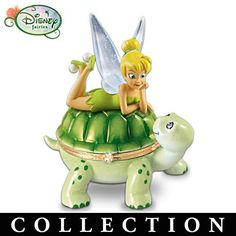 Buy Disney Tinker Bell's Little Pal Turtle Music Box by The Bradford Exchange at Wish - Shopping Made Fun Tinkerbell And Friends, Tinkerbell Disney, Peter Pan And Tinkerbell, Tinkerbell Fairies, Walt Disney, Disney Fairies, Disney Love, Disney Magic, Disney Art