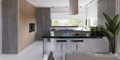 Projekt domu HomeKONCEPT-26 – wariant 3 | HomeKONCEPT Village House Design, Village Houses, Modern House Design, Home Depot, Planer, Kitchen Design, House Plans, Table, Furniture