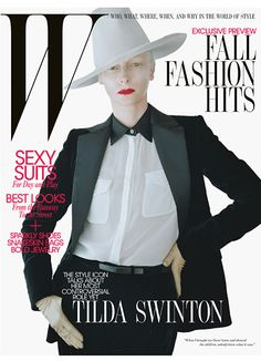 Tilda Swinton, August 2011 cover. Photo: Tim Walker.