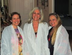 We have women from all over the world who have purchased our prayer scarves. Here are three beautiful Sisters from our Sisterhood of the Sacred Scarves from Indiana looking soulful and gorgeous in their Gratitude scarf. From left to right Angie Booher-Bober, Linda Linker Rosenthal and Susanne R. Johnson. www.thespiritedwoman.com/prayer_scarf
