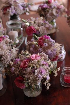 A+N August 2015, soft pink wild flowers picked in the Tuscan countryside