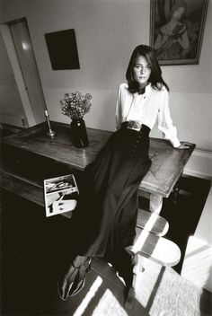 Charlotte Rampling, mode Yves Saint Laurent, Paris, Vogue France, 1970