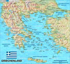 Griechenland Landkarte Deutsch im Griechenland Reiseführer http://www.abenteurer.net/1733-griechenland-reisefuehrer/