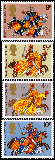 Royal Mail 1974 - Medieval Warriors http://rmspecialstamps.com/##stamps