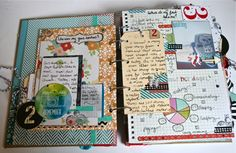 Wonderful eclectic album !!  Must make!!   purplemailbox.com: Scrap Mini...Learn Big