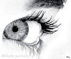 Réalisation de portraits et dessins réalistes au crayon graphite d'après photos…