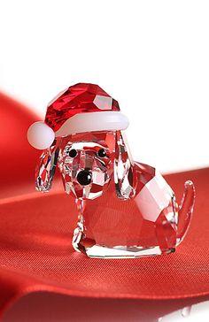 Swarovski Dog With Santa's Hat 2014