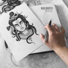 Kali Tattoo, Shiva Tattoo Design, Mahadev Tattoo, Shiva Sketch, Drawing Female Body, Giger Art, Lord Shiva Hd Wallpaper, Arm Tats, Facial Tattoos