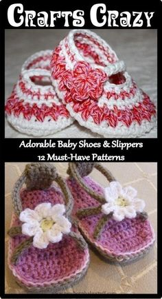 Crochet Baby Booties Adorable Baby Shoes & Slippers: 12 Must-have Knit & ...