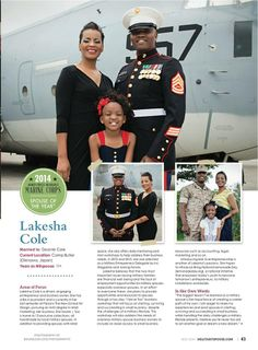 2014 Armed Forces Insurance Military Spouse of the Year - Lakesha Cole - TV interview