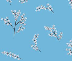 Spring Blossom fabric by smuk on Spoonflower - custom fabric