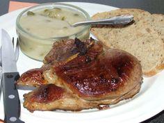 Báránypecsenye kapribogyó mártással - Motoros konyhája Meat Recipes, Pesto, Steak, French Toast, Breakfast, Hot, Morning Coffee, Torrid, Steaks