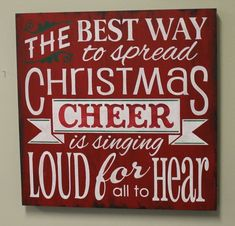 Christmas Sign/Spread Christmas Cheer/XXLG Sign/Red/White/Christmas Decor/Holiday Decor/Ready to Ship on Etsy, $125.00 #Christmas #thanksgiving #Holiday #quote
