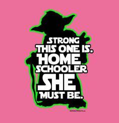 Star Wars themed homeschool t-shirt. Love it!!!!!!