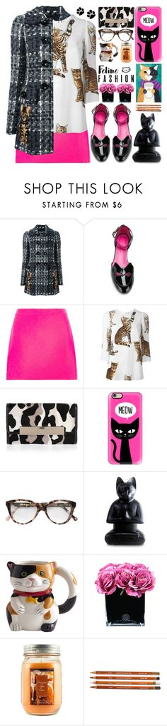 """Feline Fashion"" by barbarela11 ❤ liked on Polyvore featuring Dolce&Gabbana, Oscar Tiye, Versace, Jimmy Choo, Casetify, Cutler and Gross, NOVICA, Pier 1 Imports, Hervé Gambs and Holiday Memories"