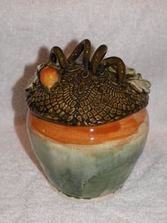 Acorn Jar by Lynnesueart on Etsy