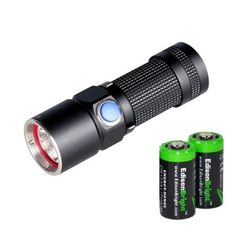 Olight S10 L2 Baton 400 Lumens CREE XM-L2 LED Flashlight EDC with two EdisonBright CR123A Lithium Batteries (S10 Upgrade) - http://www.best-product-buys.com/computer-reviews/olight-s10-l2-baton-400-lumens-cree-xm-l2-led-flashlight-edc-with-two-edisonbright-cr123a-lithium-batteries-s10-upgrade