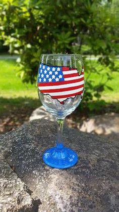 Hand-painted wine and beer glasses by CrystalsGlassDesigns