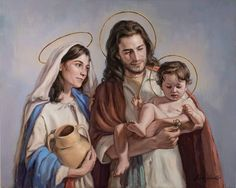 Day 54 Day Three Hearts Novena for Protection & Provision - Perfection – United States Grace Force Spiritual Images, Religious Images, Religious Art, Christian Images, Christian Life, Jesus Christ Painting, Jesus In The Temple, Family Painting, Mama Mary