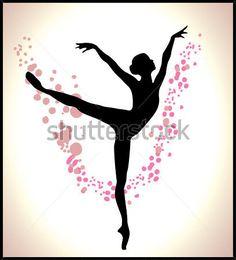 silueta de bailarina de ballet  Buscar con Google  patrones y