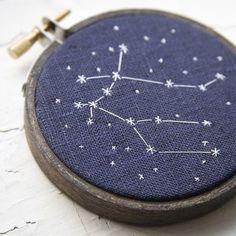 constellations on black fabric
