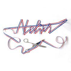 #apointun #acomme #atelier #bleublancrouge #frenchtouch #typo #nathanallard Thing 1, Typo, Neon Signs, Calligraphy, Design, Art, Atelier, Art Background, Lettering