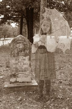 Girl ghost in graveyard photo how-to