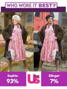 Golden Girls meme Sophia Klinger's dress celebrity auction MASH