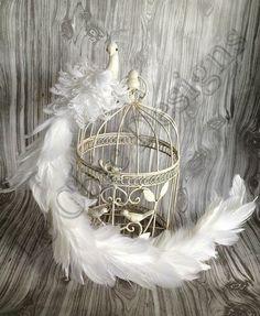 30'' WEDDING WHITE PEACOCK FEATHER BIRD CAKE TOPPER CENTERPIECE SHABBY DECOR