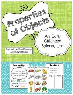 i can describe properties of an object science pinterest