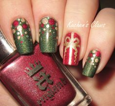 Image result for christmas ornament nail art