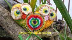 Elvira Mendoza Crochet: Pareja de Búhos para San Valentín