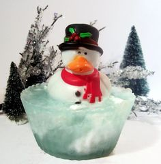 Christmas Rubbery Ducky Soap by CandlelitDesserts on Etsy, $4.99