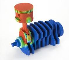 3D Printed Auto Part in color