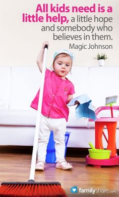 FamilyShare.com l Teach your children that cleaning with mom is fun to do.