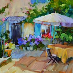 """""""The Fragrance of France"""" 12 x 12in oil on museum quality panel $695"""