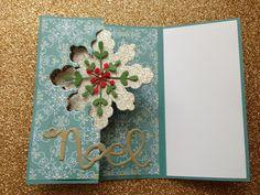 Snowflake Card Thinlits Dies Angeliki Kolo Independent Stampin' Up! Demonstrator
