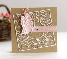 poppystamps Rose Frame and Memory Box Drifting Side Butterfly… |