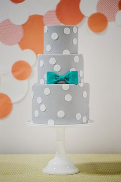 polka dot cake by www. Photography by Jasmine Star Photography / jasminestarphotog., Design by Lindye Galloway Design / Fancy Cakes, Cute Cakes, Pretty Cakes, Beautiful Cakes, Amazing Cakes, Cake Magique, Polka Dot Cakes, Polka Dots, Molly Cake