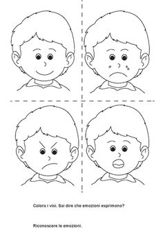 Emotions Preschool, Emotions Activities, Kindergarten Writing, English Activities For Kids, Oral Motor Activities, Preschool Worksheets, Preschool Activities, Teaching Kids, Kids Learning