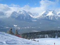 ski lake louise view -