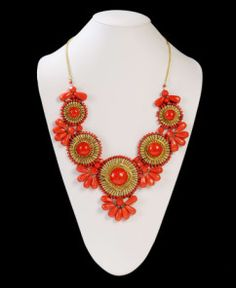 Medallion Bib Necklace