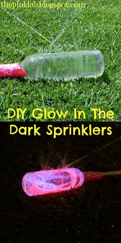 DIY Glow In The Dark Sprinklers- what a great idea for Summer FUN!  My kids love anything that glows