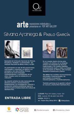 Silvana Arciniega y Pablo García Robles exponen en el Pop Art Gallery del hotel Oh! 30abr 6pm
