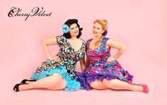 """The 'stars' of our latest video series """" Pin-up Beauty Secrets"""" Elly Mayday and Stela Licina...have you seen them yet?"""
