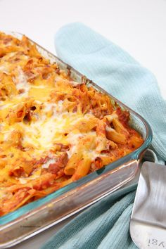 Easy lasagna bake with penne pasta
