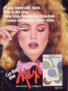 I loved makeup in the 80s. I got a big box of makeup for my sixth birthday (yes, you read right) and I loved it ever sense. These Kissing...
